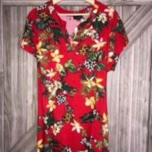 Zonoida Tops - Red Floral Top
